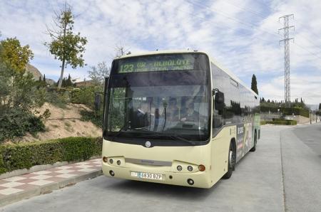 Autobus en Albolote