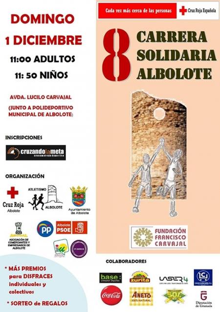 Cartel de la VIII Carrera Solidaria de Albolote