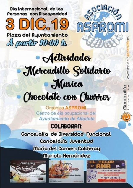 Cartel del evento que organiza el Centro Ocupacional de Albolote