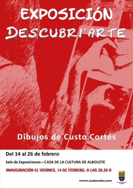 Cartel de la exposición de Custo Cortés en Albolote