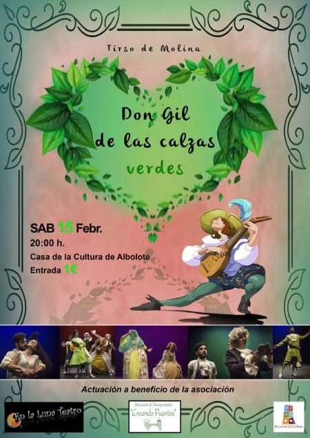 Cartel de la obra `Don Gil de las calzas verdes`