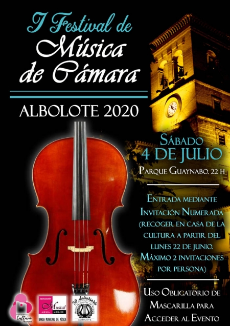 Cartel de I Festival de Música de Cámara de Albolote